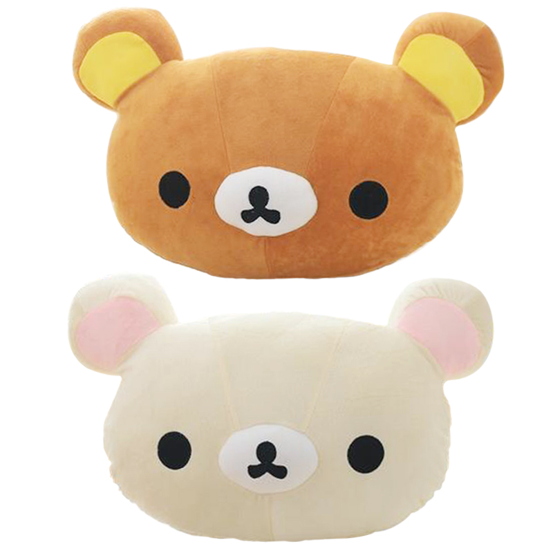 1pc 50*30cm Cartoon Rilakkuma Plush Pillow Staffed Soft Easy Bear Plush Toy Cute Relax Bear Sofa Cushion Children's Gift
