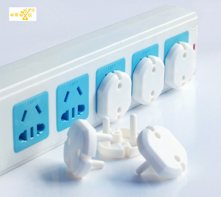 2016 10pic 2-phase 2-foot 2-hole sockets for child baby safety Electric shocker caps for children protection caps for children