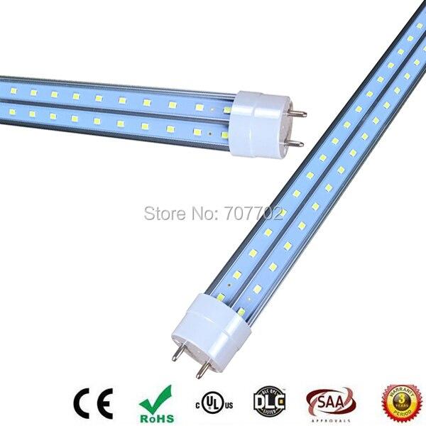 T8 LED Tube 28W 4 feet 1.2M V Shape Double sides Ligh rotating G13 For cooler door LED fluorescent light AC85-265V UL