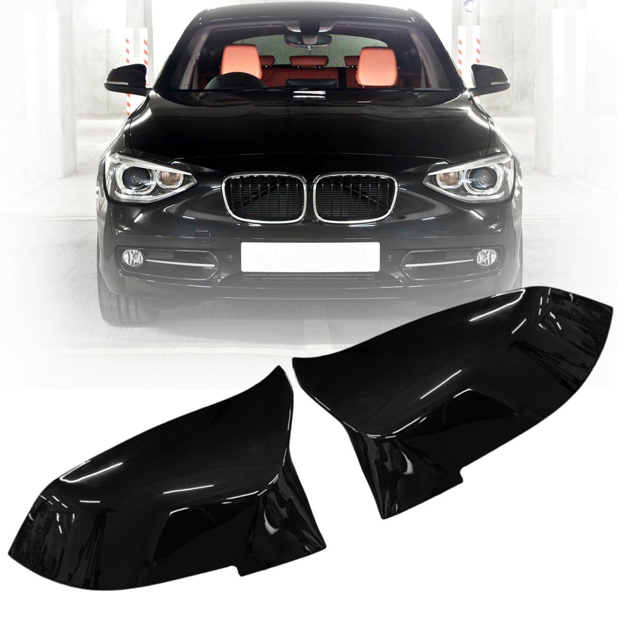 4 Paire de couleur Noir Brillant Couvercle de Rétroviseur Pour BMW F20 F21 F22 F30 F32 F36 X1 F87 M3 2012 2013 2014 2015 2016 2017