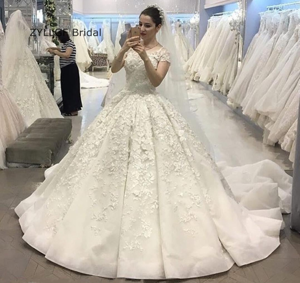 ZYLLGF Bridal Fluffy Wedding Dress Romantic 2017 Ball Gown