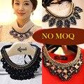 2016 Flor De La Moda Collar De gargantilla Collar de Las Mujeres Maxi Largo Bohemio de la Vendimia grande del grano Joyería fina encantos femme collier