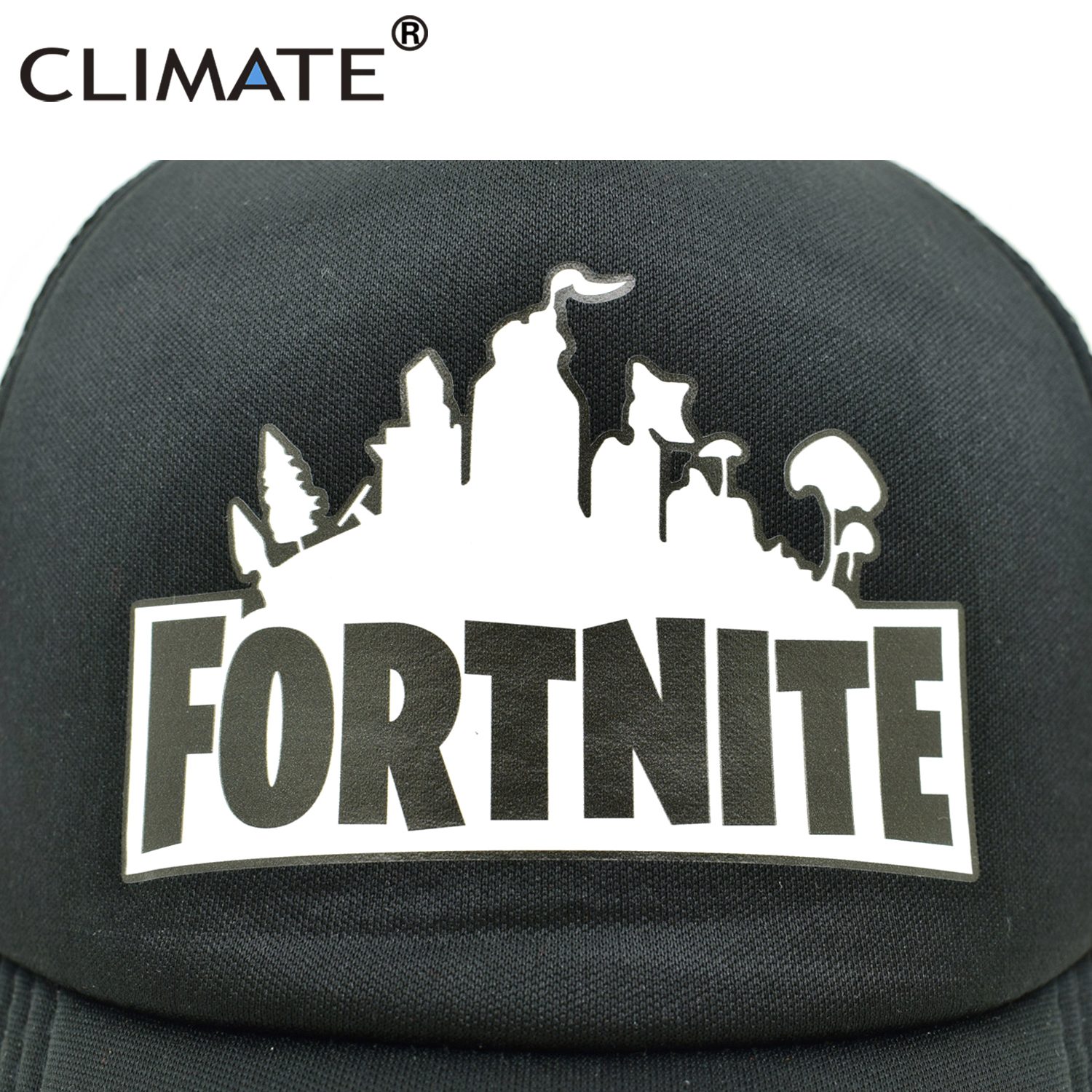 CLIMATE Fortnite Trucker Cap Hat Hot New Game Fortnite Fans Cool Mesh - Kläder tillbehör - Foto 2