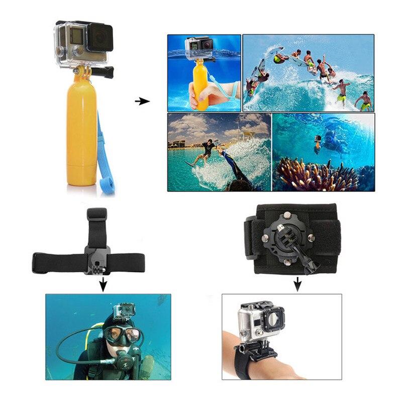 Haute qualité nouvelle tête poitrine montage flottant monopode accessoires Kit Action caméra accessoires Kits pour GoPro 2 3 4 caméra