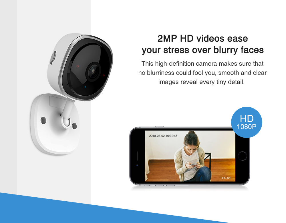 SANNCE 4 Stück HD 1080 P Fisheye IP Kamera 2MP Drahtlose Wifi Mini Baby Monitor Nachtsicht IR Cut Wi-Fi home Security Camara