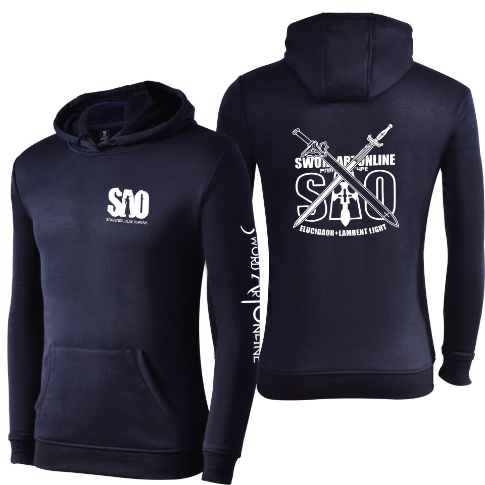 Sword Art Online Sao Unisex Coat Hoodie Men Women Hoodies Sweatshirts Cosplay Costume Boys Clothes Girls Outwear Autumn Tops Xxs Costumes & Accessories