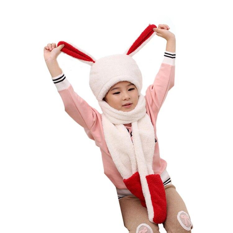 Accessoires Sonnig Neue Hut Und Schal Sets Für Kinder Nette Warme Jungen Und Mädchen Korallen Pile Schal Hut Handschuhe Drei In Einem Cartoon Kinder Winter Set