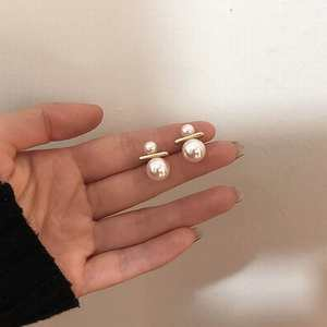 Korean Pearl Earrings For Women Simple All Match pendientes 2020 Fashion Jewelry