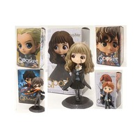 QPosket Potter Figure Cute Big Eyes Ron Weasley Scamander Malfoy Hermione Granger Draco Action Figure Model Toy Doll