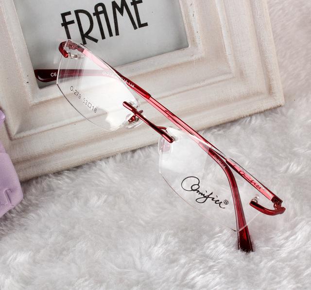 2016 Super qualidade óculos sem aro de liga de titânio enquadrar óculos de grau óculos quadros mulheres