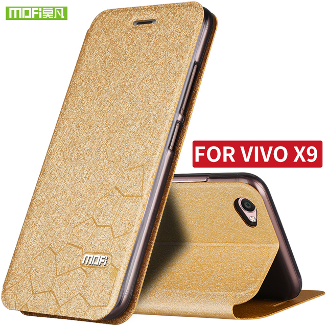 For BBK/VIVO X9 Case Mofi brand Water Cube Design Fit All-Around Shock Resistant Leather support stand in Mobile Case