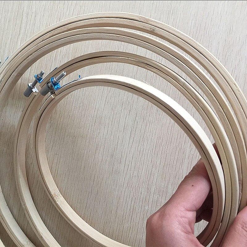 4 tamaño/set Bordado aros Marcos conjunto 17/21/24/27 cm bambú ...