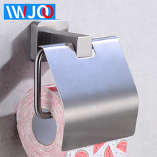 Toilet Paper Holder Stainless Steel Bathroom Tissue Roll Ppaer Holder with Cover Waterproof Wall Mounted Paper Towel Holder Rack free shipping wall toilet paper holder chrome stainless steel roll paper tissue rack with cover