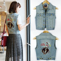 2016 hot sale outwear vest jeans waistcoat woman jacket spring clothes summer coat
