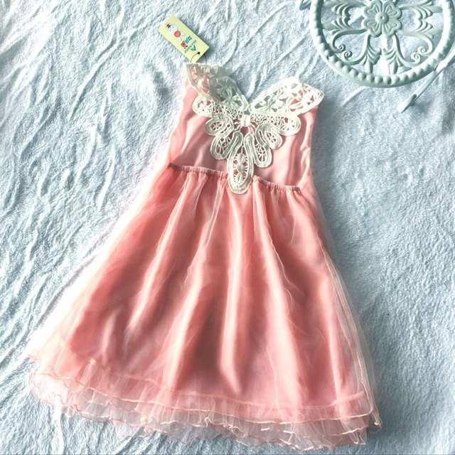 cc5f255cce01ea US $6.72 10% OFF|2016 neue Baby Mädchen Häkeln Kleid Sommer Kleidung Kinder  Tank Rosa Spitze Kleid für Mädchen Prinzessin Party Kleider für ...