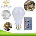 BRIGHTINWD E27 RGB LED Lamp 3W 5W 10W LED RGB Bulb SMD5050 LED Light 110V 220V Home Decoration 16 Colors IR Remote Controller