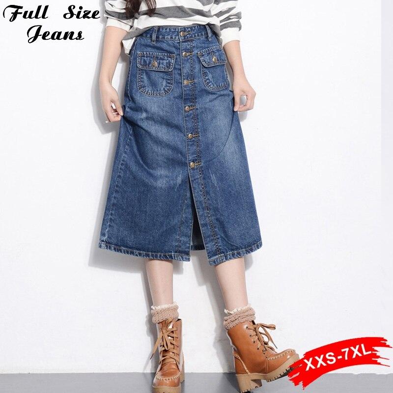 Online Get Cheap Long Denim Skirt Size 16 -Aliexpress.com ...