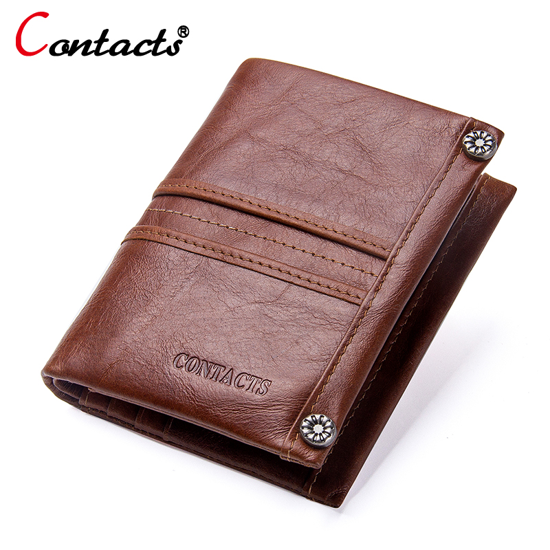 Contact's luxury wallets male genuine leather men wallet men small wallet clutch coin purse business card holder money walet new