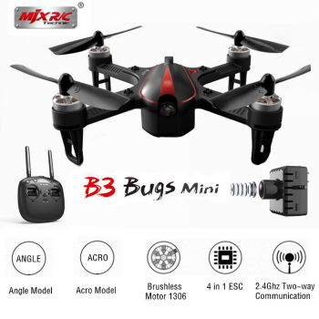 MJX Bugs 3 B3 MINI Brushless With 1306 2750KV Motor 4 IN 1 4A ESC 7.4V 850mAh 45C Battery RC Quadcopter RTF Professional drone