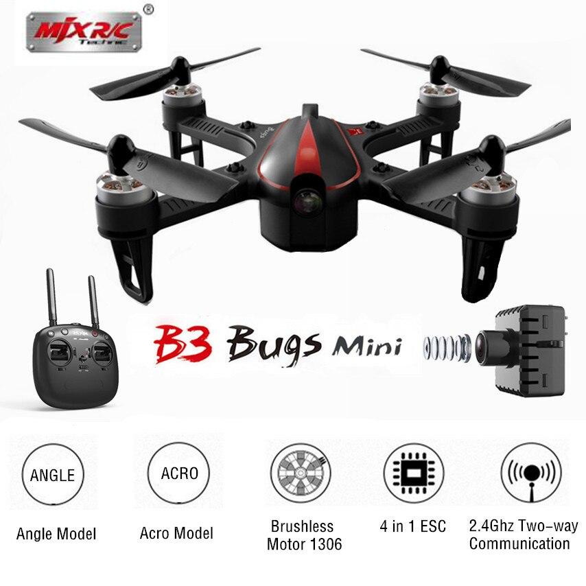 MJX Bugs 3 B3 MINI Brushless avec moteur 1306 2750KV 4 en 1 4A ESC 7.4 V 850 mAh 45C batterie RC quadrirotor RTF drone professionnelMJX Bugs 3 B3 MINI Brushless avec moteur 1306 2750KV 4 en 1 4A ESC 7.4 V 850 mAh 45C batterie RC quadrirotor RTF drone professionnel