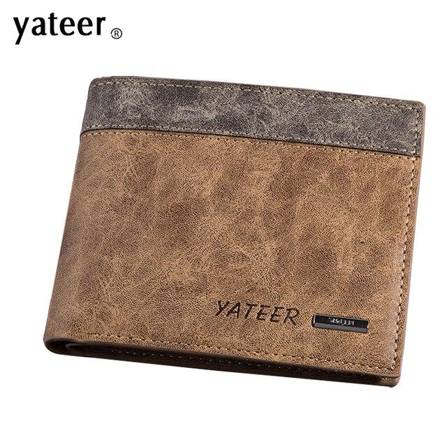 f6a8e46e1 2016 hombres carteras de cuero cartera monedero barato Abrazadera para el  dinero hombres Walet walllet cuero