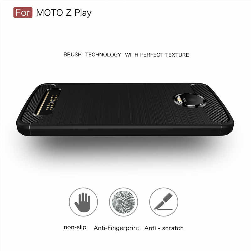 Keysion炭素繊維モトローラモトz zplayハイト品質ソフト落下防止バックカバーモトローラモトz zプレイ電話ケース