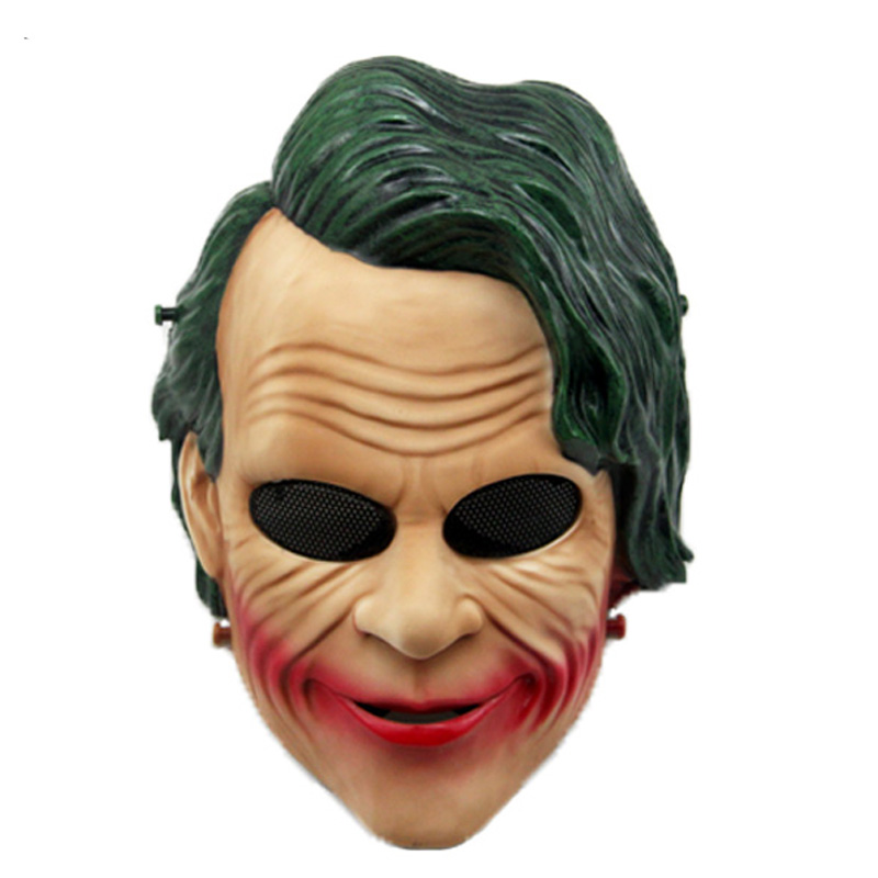 Smiley Clown Skull Paintball Mask Cosplay Halloween Masks Mesh Full Face Army Military Wargame Airsoft Tactical Mask