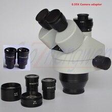FYSCOPE NEW ARRIVE 3.5X 180X simul focal Trinocular Zoom mikroskop stereo Head + 0.35 C MOUNT