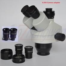FYSCOPE NIEUWE KOMEN 3.5X 180X Simul Focal Trinoculaire Zoom Stereo Microscoop Hoofd + 0.35 C MOUNT