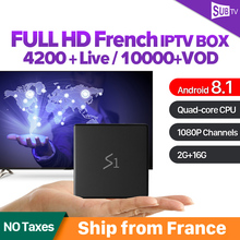 IP TV France Arabic Android 8.1 Box Leadcool S1 with 1 Year SUBTV IPTV Code RK3229 Full HD IPTV Belgium French Spain Netherlands все цены