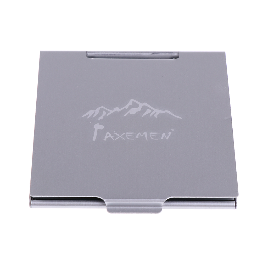 Hight Quality Aluminum Alloy Mini Mirror Compact Outdoor Emergency Camping Hiking Travel Portable Silver Easy To Carry
