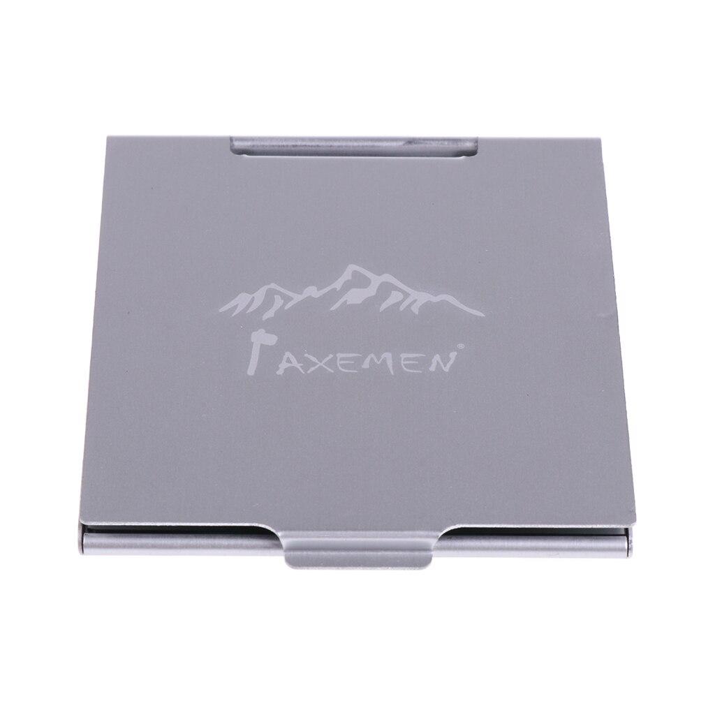 Мини-зеркало из алюминиевого сплава высокого качества, компактное зеркало для аварийного отдыха на природе, походов, путешествий, портатив...