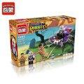 70 unids Ilumina 1301 Piratas Serie Tiburones Contingente Del bloque Hueco de Los Niños Juguetes de Los Ladrillos Educativos