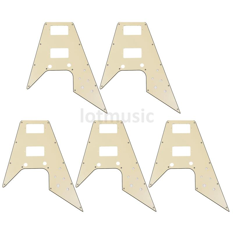 5 Pcs Guitar Pickguard For '67 Reissue Series Electric Guitar Flying V Replacement Cream blade 1 enemies reissue