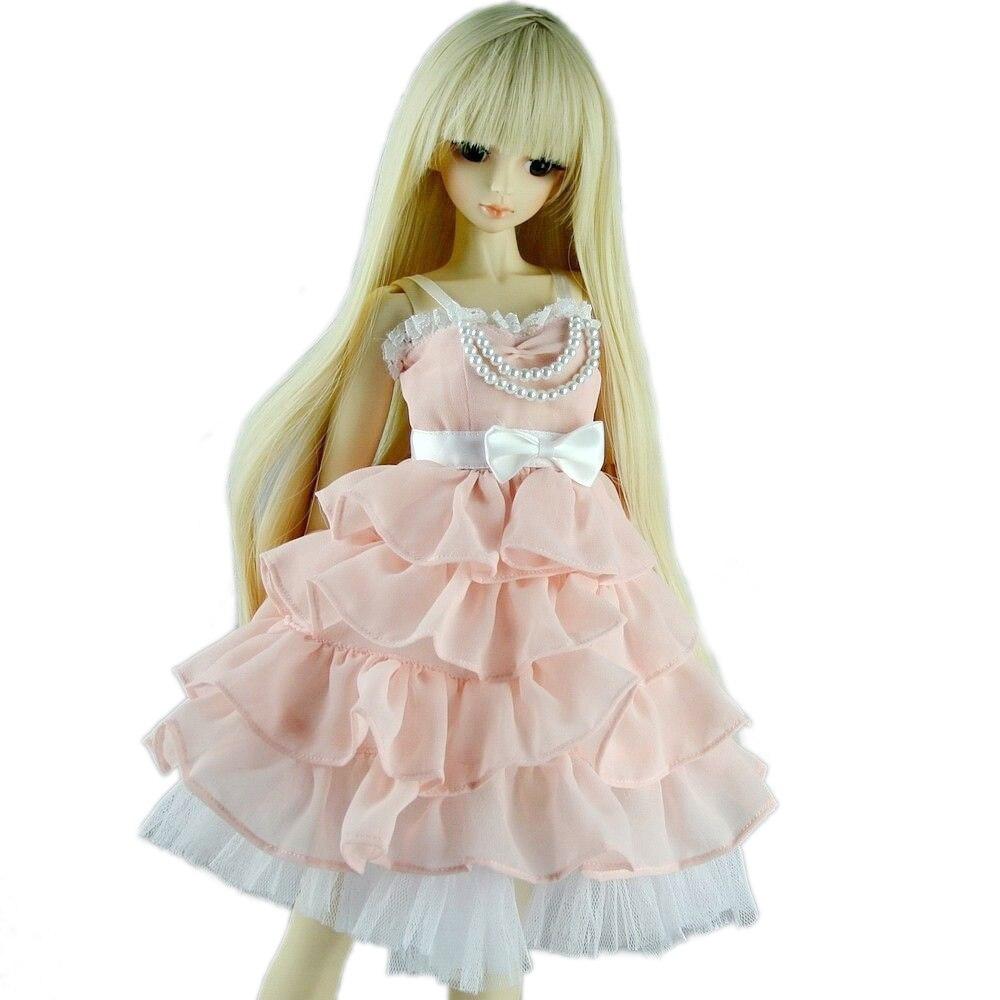[wamami] 130# Pink Clothes Dress 1/4 MSD DOD AOD BJD Dollfie Free Shipping [wamami] 140 pink lace dress clothes 1 3 sd dz dod aod bjd doll dollfie
