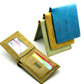 Fashion Men PU Leather Wallet Pockets Card rBill Money Wallet Man BIFOLD Wallet Dollar Wallet