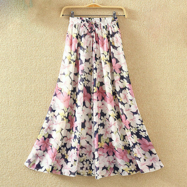 6fd7e625f € 13.11 47% de DESCUENTO Elegante Falda larga de verano para mujer moda  playa Bohemia Maxi faldas de gasa de cintura alta tutú Casual Vestidos ...