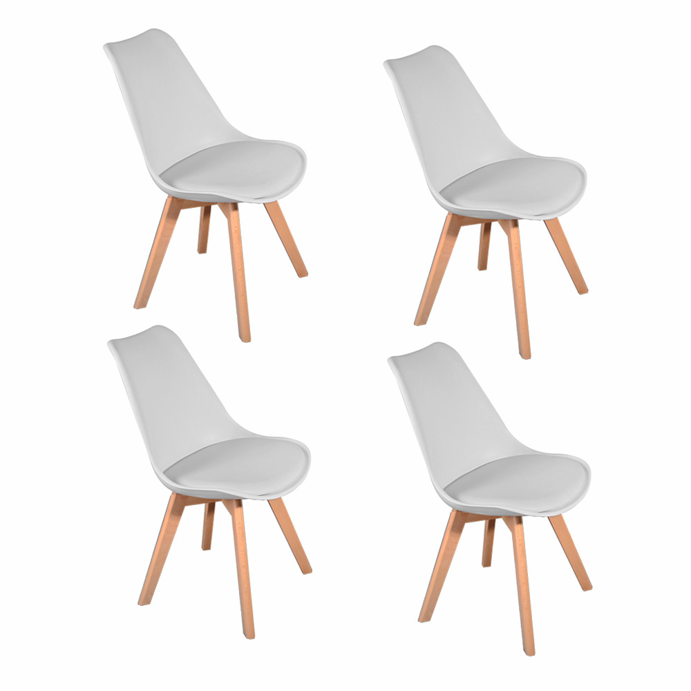1pc/4pcs Panana Tulip Dining Office Chair Solid Wood Legs ABS Plastic Padded Seat Livingroom Coffee Room Lounge Seat White1pc/4pcs Panana Tulip Dining Office Chair Solid Wood Legs ABS Plastic Padded Seat Livingroom Coffee Room Lounge Seat White