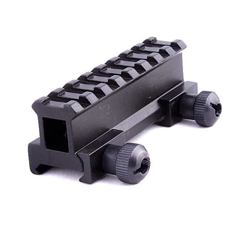 все цены на Generic Hunting Scope Mount Adapter 20mm Riser Base Ar Dovetail Weaver Picatinny Rail Pistol Airsoft Gun Hunting Caza