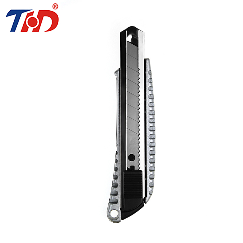 THD 1PC High Quality Zinc Alloy Stationery Knife Paper Model Cutter Razor Blades Knife School Chancery Utility Knife 1pc hot sale 100%quality guaranteed doner kebab slicer two blades electrical kebab knife kebab shawarma gyros cutter