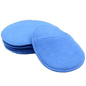 Image 5 - 5 pcs Tamanho Grande Microfibra Aplicador de Cera Do Carro Almofadas de Polimento De Esponja de Alta Densidade Bolso Luvas Remover A Cera Detalhamento Wash Limpa