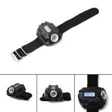 New Wrist Light LED 450 Lumen Bright Waterproof USB Rechargeable Watch Flashlight Emergency Torch Lights Men's Watches(China)