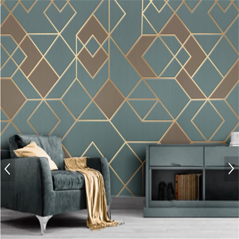 Abstract Geometric Pattern Wallpaper For Bedroom Modern