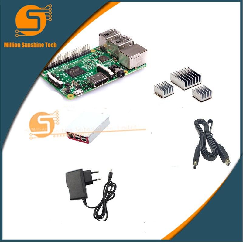 Raspberry Pi 3 Model B + case + Heatsinks+5V 2.5A+HDMI for pi3 b with wifi & bluetooth