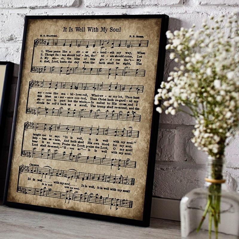Vintage Sheet Music Poster Canvas Prints Home Decoration