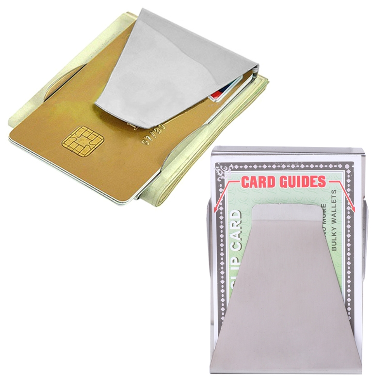 Unisex Slim Money Clip Credit Card Clip Wallet Stainless Steel Men Women Solid Fashion Money Clips цена