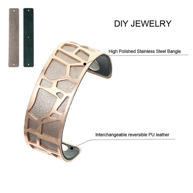 Cremo Giraffe Bracelets & Bangles For Women Stainless Steel Jonc Bijoux Femme Cuff Bangle 1
