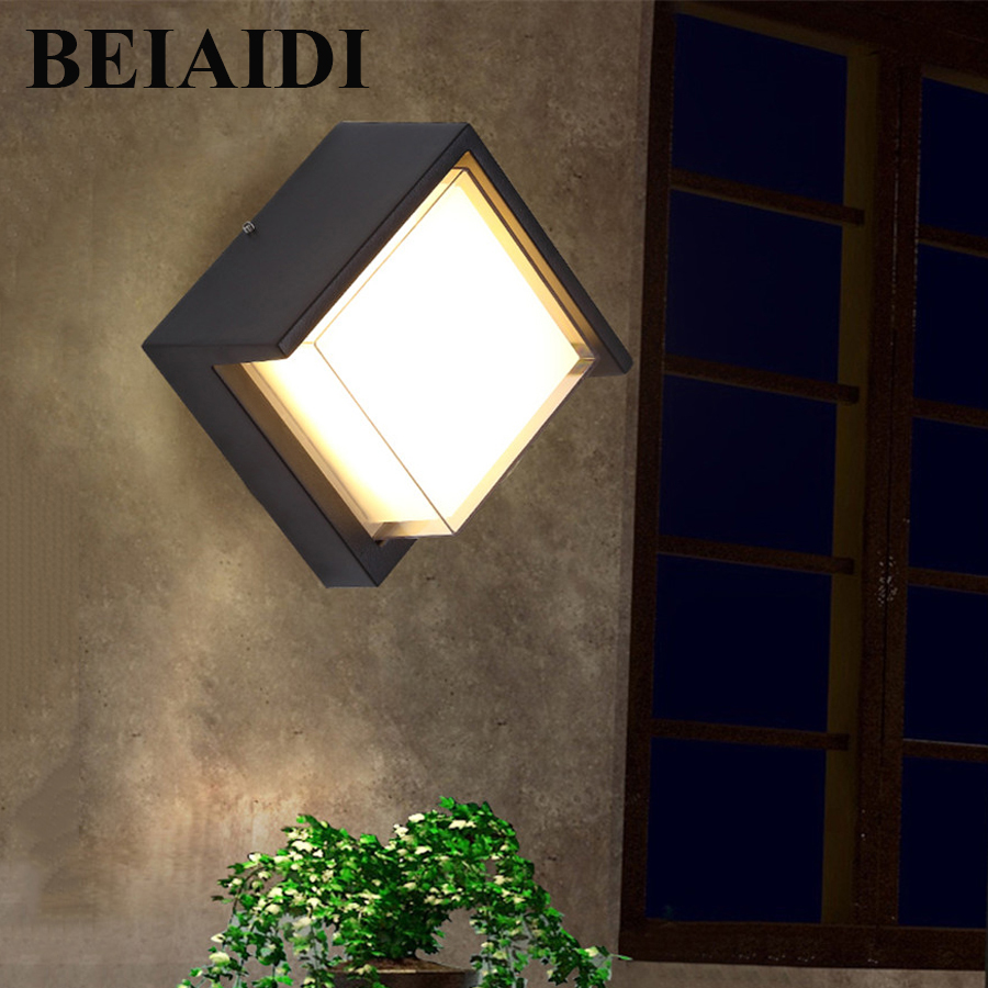 BEIAIDI 6W Outdoor Garden Porch Led Wall Light Waterproof Hotel Villa Balcony Courtyard Aisle Wall Lamp Outside Lighting Fixture outdoor lighting waterproof glass wall lamp vintage indoor villa porch garden courtyard decora light ip65 led outdoor wall light