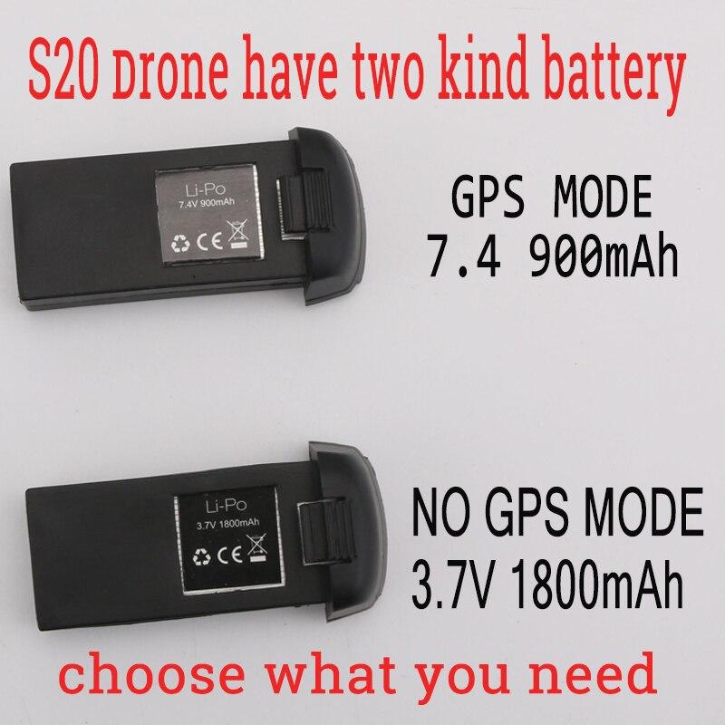 SMRC S20 drone keine GPS oder GPS zubehör 3,7 v 1800 7,4 v 900 mah batterie lange action zeit motor teile propeller Schutz rahmen