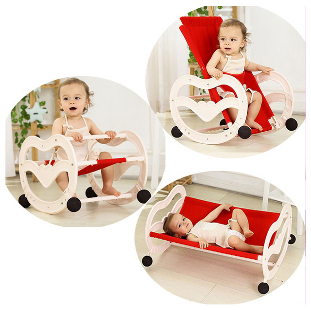 80e909f95 2 In 1 Folding Baby Rocking Chair Newborn Comfort Sleeping Cradle ...